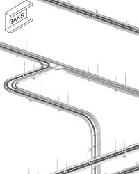 Система лотков лестничного типа (кабельростов) Baks
